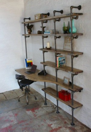 Rustic Diy Industrial Pipe Shelves Design Ideas For You 13