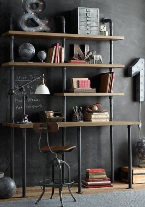 Rustic Diy Industrial Pipe Shelves Design Ideas For You 26