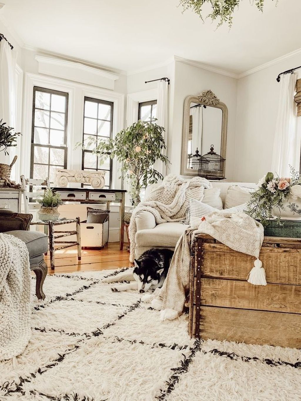 Rustic Farmhouse Furniture Design Ideas For Living Room 35