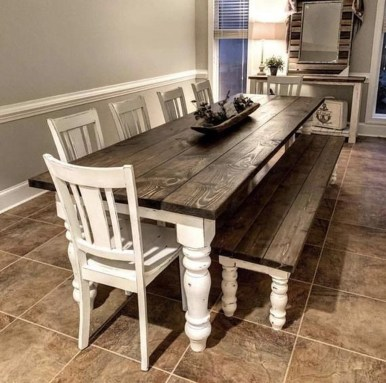 Splendid Dining Room Design Ideas With Farmhouse Table To Have 34