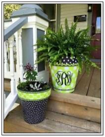 Dreamy Front Door Flower Pots Design Ideas To Increase Your Home Beauty 05