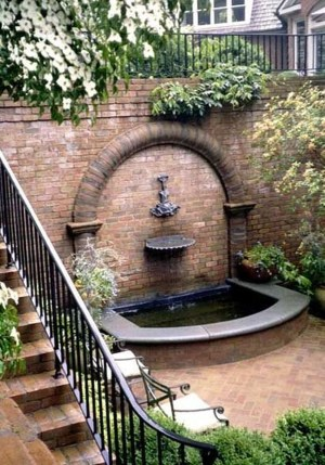 Affordable Small Front Garden Design Ideas With Fountain To Try 18