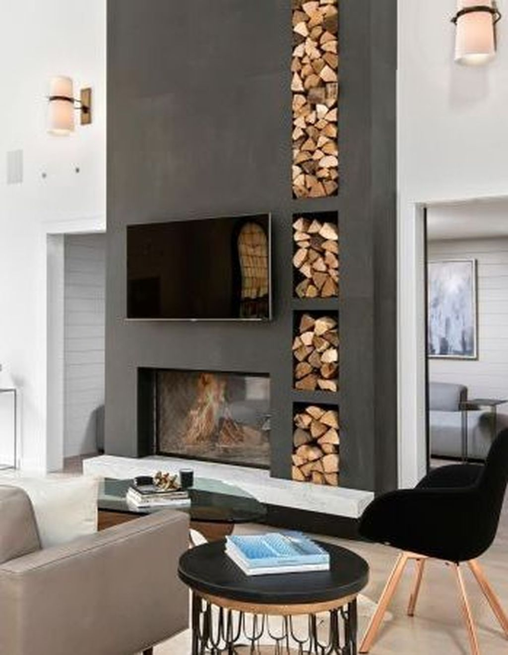 Cool Scandinavian Fireplace Design Ideas To Amaze Your Guests 12