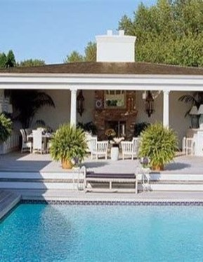 Cute Cabana Swimming Pool Design Ideas That Looks Charming 17
