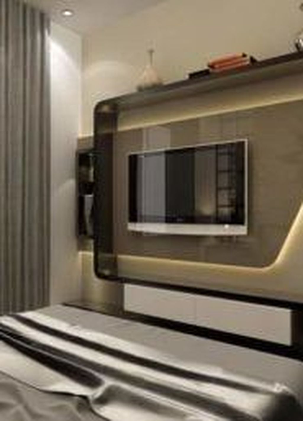 Enjoying Bedroom Design Ideas With Wall Tv To Try 03