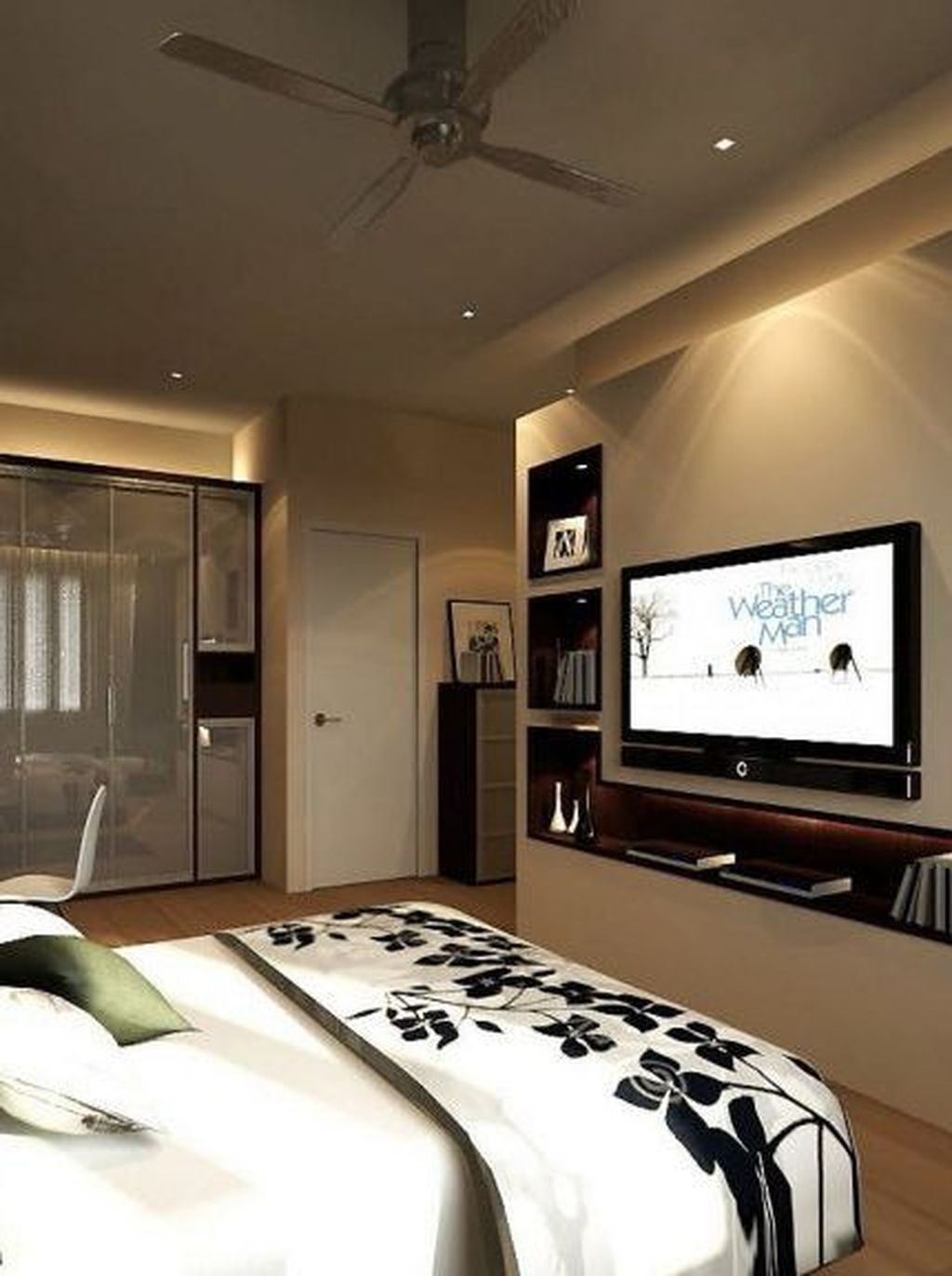 Enjoying Bedroom Design Ideas With Wall Tv To Try 09