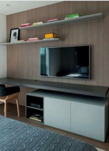 Enjoying Bedroom Design Ideas With Wall Tv To Try 22