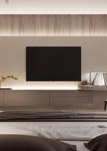 Enjoying Bedroom Design Ideas With Wall Tv To Try 32