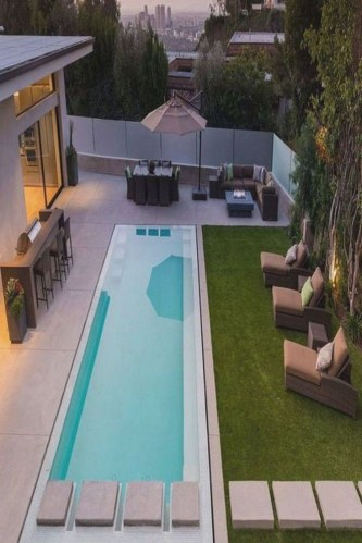 Flawless Small Pool Landscaping Design Ideas For Enchanting Home Outside 25