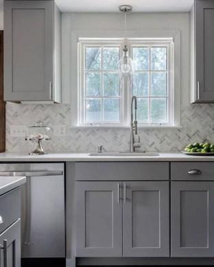 Luxury Grey Kitchen Backsplash Design Ideas For Your Inspiration 30