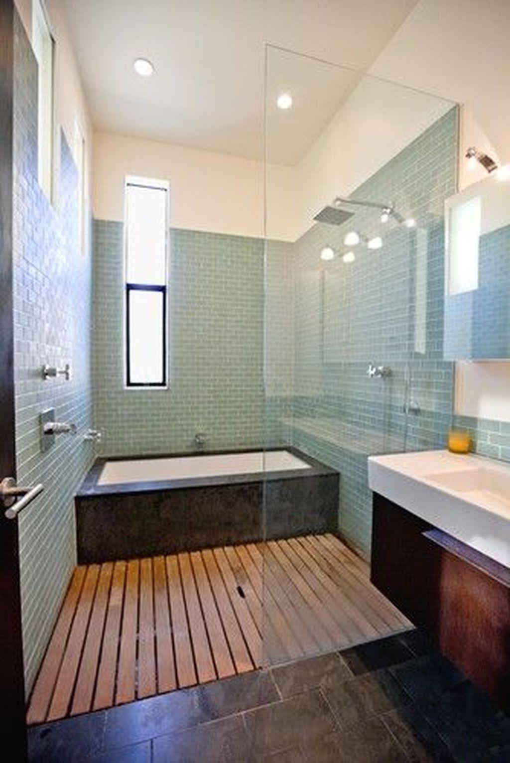 Marvelous Wooden Shower Floor Tiles Designs Ideas For Bathroom Remodel 28