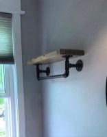 Amazing Bathroom Shelf Ideas With Industrial Farmhouse Towel Bar Tips For Buying It 01