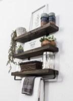 Amazing Bathroom Shelf Ideas With Industrial Farmhouse Towel Bar Tips For Buying It 03
