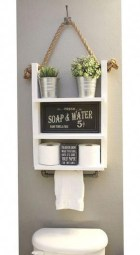 Amazing Bathroom Shelf Ideas With Industrial Farmhouse Towel Bar Tips For Buying It 08