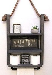 Amazing Bathroom Shelf Ideas With Industrial Farmhouse Towel Bar Tips For Buying It 09