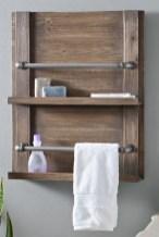 Amazing Bathroom Shelf Ideas With Industrial Farmhouse Towel Bar Tips For Buying It 16