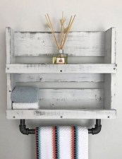 Amazing Bathroom Shelf Ideas With Industrial Farmhouse Towel Bar Tips For Buying It 24