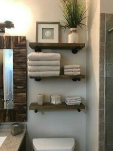 Amazing Bathroom Shelf Ideas With Industrial Farmhouse Towel Bar Tips For Buying It 33