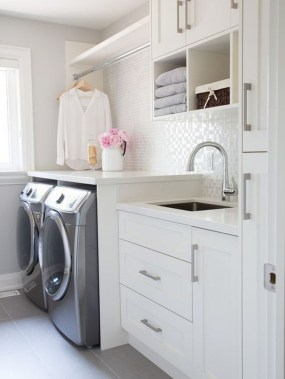 Best Small Functional Laundry Room Decoration Ideas That Looks Cool 08