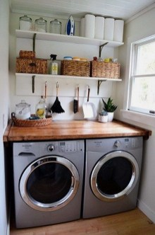 Best Small Functional Laundry Room Decoration Ideas That Looks Cool 20