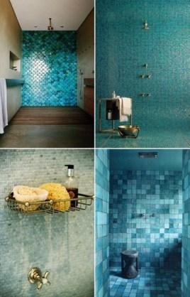 Chic Blue Shower Tile Design Ideas For Your Bathroom 08