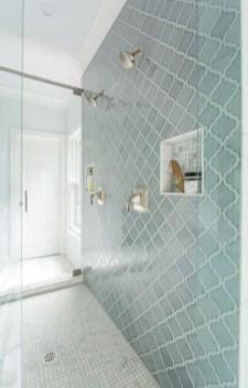 Chic Blue Shower Tile Design Ideas For Your Bathroom 10