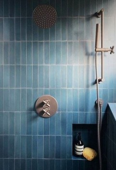 Chic Blue Shower Tile Design Ideas For Your Bathroom 13
