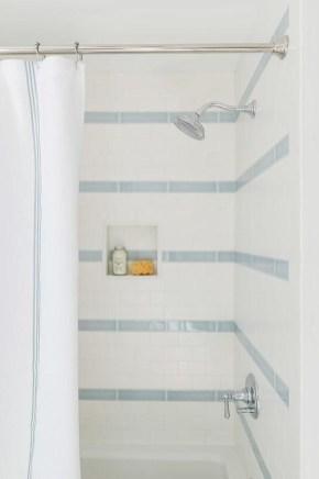 Chic Blue Shower Tile Design Ideas For Your Bathroom 17