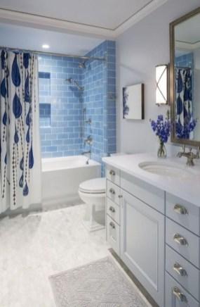 Chic Blue Shower Tile Design Ideas For Your Bathroom 18