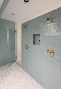 Chic Blue Shower Tile Design Ideas For Your Bathroom 20