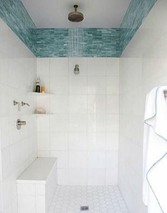 Chic Blue Shower Tile Design Ideas For Your Bathroom 24