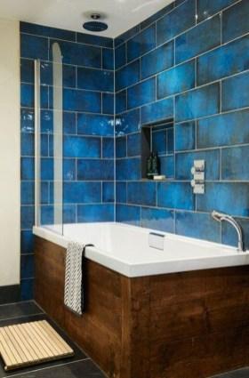 Chic Blue Shower Tile Design Ideas For Your Bathroom 26