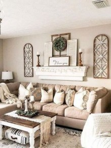 Comfy Farmhouse Living Room Decor Ideas To Copy Asap 06