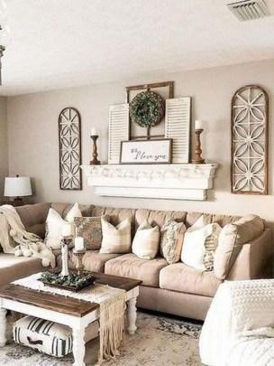 Comfy Farmhouse Living Room Decor Ideas To Copy Asap 06