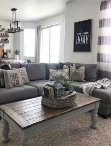Comfy Farmhouse Living Room Decor Ideas To Copy Asap 19