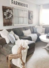 Comfy Farmhouse Living Room Decor Ideas To Copy Asap 22