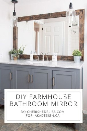 Cool Bathroom Mirror Ideas That You Will Like It 32