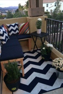 Enchanting Balcony Decoration Ideas For Apartment For A Cleaner Look 19