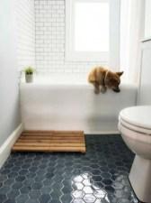 Fantastic Black Floor Tiles Design Ideas For Modern Bathroom 03