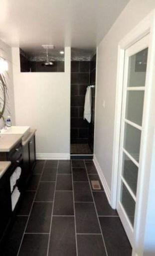 Fantastic Black Floor Tiles Design Ideas For Modern Bathroom 13