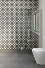 Fantastic Black Floor Tiles Design Ideas For Modern Bathroom 23