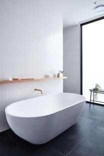 Fantastic Black Floor Tiles Design Ideas For Modern Bathroom 30