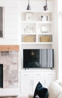 Inexpensive Home Cabinet Design Ideas For Cozy Family Room On A Budget 01