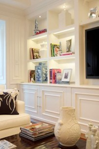 Inexpensive Home Cabinet Design Ideas For Cozy Family Room On A Budget 20