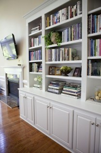 Inexpensive Home Cabinet Design Ideas For Cozy Family Room On A Budget 23