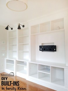 Inexpensive Home Cabinet Design Ideas For Cozy Family Room On A Budget 31