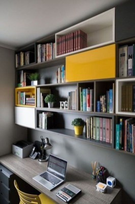 Popular Home Office Cabinet Design Ideas For Easy Organization Storage 18