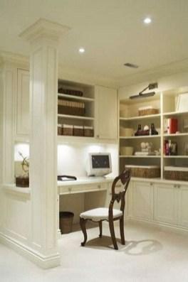 Popular Home Office Cabinet Design Ideas For Easy Organization Storage 24