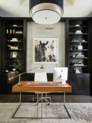 Popular Home Office Cabinet Design Ideas For Easy Organization Storage 25