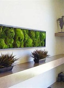 Delicate Natural Moss Wall Art Decorations Ideas To Try Right Now 07